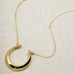 Stella & Dot Double Horn Pendant Necklace